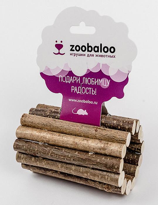 Тоннель для грызунов Zoobaloo. 656656Тоннель Zoobaloo, изготовленный из орешника, предназначен для грызунов. Абсолютно натуральный, он является идеальным аксессуаром для клеток. Превосходный аттракцион для вашего любимца - прекрасное средство разнообразить досуг и всегда оставаться в форме!