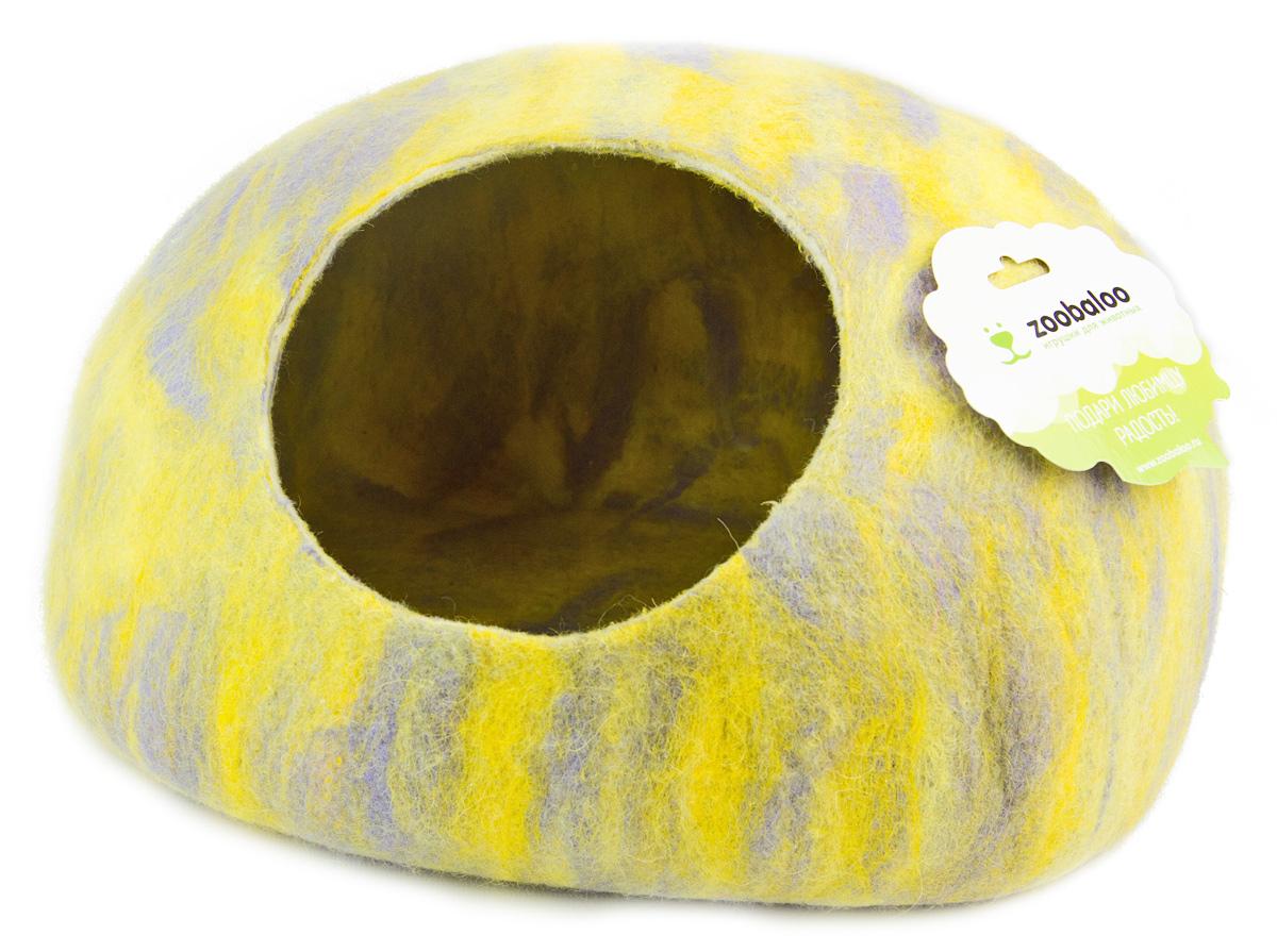 Домик-слипер для животных Zoobaloo WoolPetHouse, цвет: серый, желтый, размер S818Домик-слипер Zoobaloo WoolPetHouse предназначен для отдыха и сна питомца. Домик изготовлен из 100% шерсти мериноса. Учтены все особенности животного сна: форма, цвет, материал этого домика - все подобрано как нельзя лучше! В нем ваш любимец будет видеть только цветные сны. Шерсть мериноса обеспечит превосходный микроклимат внутри домика, а его форма позволит питомцу засыпать в самой естественной позе.