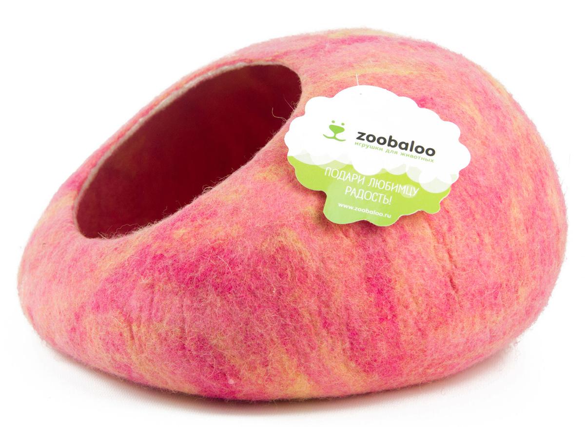 Домик-слипер для животных Zoobaloo WoolPetHouse, цвет: розовый, желтый, размер М874Домик-слипер Zoobaloo WoolPetHouse предназначен для отдыха и сна питомца. Домик изготовлен из 100% шерсти мериноса. Учтены все особенности животного сна: форма, цвет, материал этого домика - все подобрано как нельзя лучше! В нем ваш любимец будет видеть только цветные сны. Шерсть мериноса обеспечит превосходный микроклимат внутри домика, а его форма позволит питомцу засыпать в самой естественной позе.