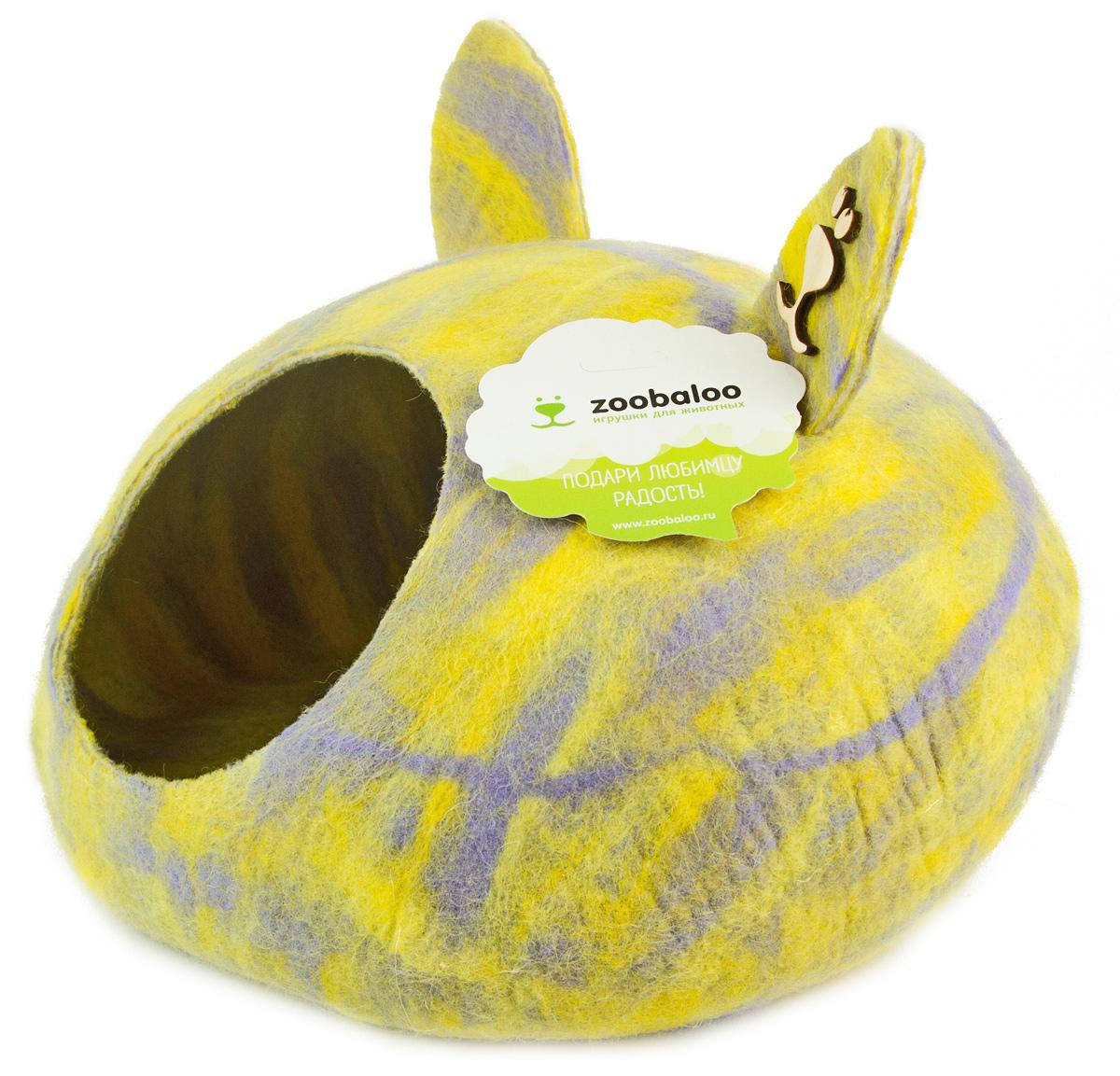 Домик-слипер Zoobaloo WoolPetHouse, размер L, форма круг, с ушками, мультиколор желтый971WoolPetHouse это домики-слиперы! Это невероятное творение наших дизайнеров обещает быть хитом сезона – мы учли все особенности «животного» сна: форма, цвет, материал этих домиков – всё подобрано как нельзя лучше! В них ваши любимцы будут видеть только цветные сны, а комфорту и благодарности не будет предела! Природа позаботилась обо всем – стопроцентная шерсть мериноса обеспечит превосходный микроклимат внутри домика, а его форма позволит питомцу засыпать в самой естественной позе. Ваши питомцы уютно обустроятся в наших домиках! Так как изделие выполнено из шерсти, советуем использовать сухую чистку, в местах сильных загрязнений можно воспользоваться губкой или щеткой с мылом. Для того, чтобы домик прослужил максимально долго, для маленьких котят и щенков рекомендуем застилать домик изнутри специальной впитывающей пеленкой.