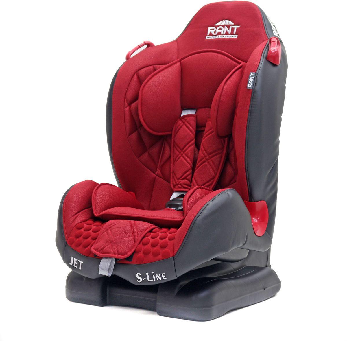 Rant Автокресло Jet цвет красный от 9 до 25 кг4650070987501Серия S-Line автокресло Jet группа 1-2. Вес ребенка: 9-25 кг, возраст: от 09 мес. до 7 лет (ориентировочно), крепится штатными ремнями безопасности автомобиля, устанавливается по ходу движения автомобиля, пятиточечный ремень безопасности с мягкими плечевыми накладками и антискользящими нашивками, 4-х ступенчатая настройка высоты подголовника, корректировка высоты ремня безопасности по уровню подголовника, 3 положения наклона корпуса, устойчивая база, фиксатор высоты штатных ремней безопасности, дополнительная боковая защита, съемный чехол, мягкий съемный вкладыш для малыша, сертификат Европейского Стандарта Безопасности ЕCE R44/04.