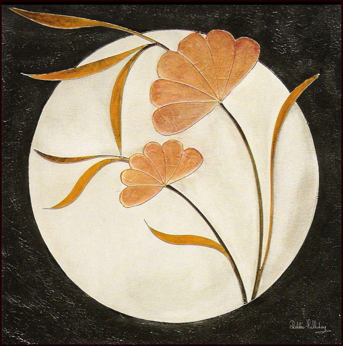 Декобокс СолоДомДекор Стильные цветы, 50х50 см2000191902358