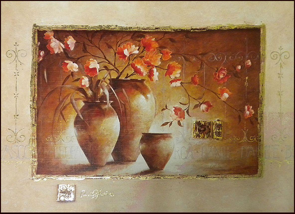 Декобокс СолоДомДекор Цветы в вазах 1, 40х50 см2000191902822