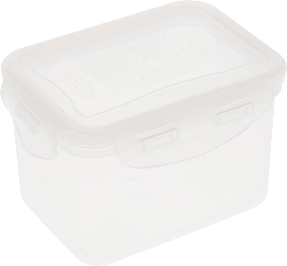 Контейнер пищевой Good&Good, цвет: прозрачный, 630 мл02-2_прозрачныйПрямоугольный контейнер Good&Good изготовлен из высококачественного полипропилена и предназначен для хранения любых пищевых продуктов. Благодаря особым технологиям изготовления, лотки в течение времени службы не меняют цвет и не пропитываются запахами. Крышка с силиконовой вставкой герметично защелкивается специальным механизмом. Контейнер Good&Good удобен для ежедневного использования в быту. Можно мыть в посудомоечной машине и использовать в микроволновой печи. Размер контейнера (с учетом крышки): 13 х 10 х 8,5 см.
