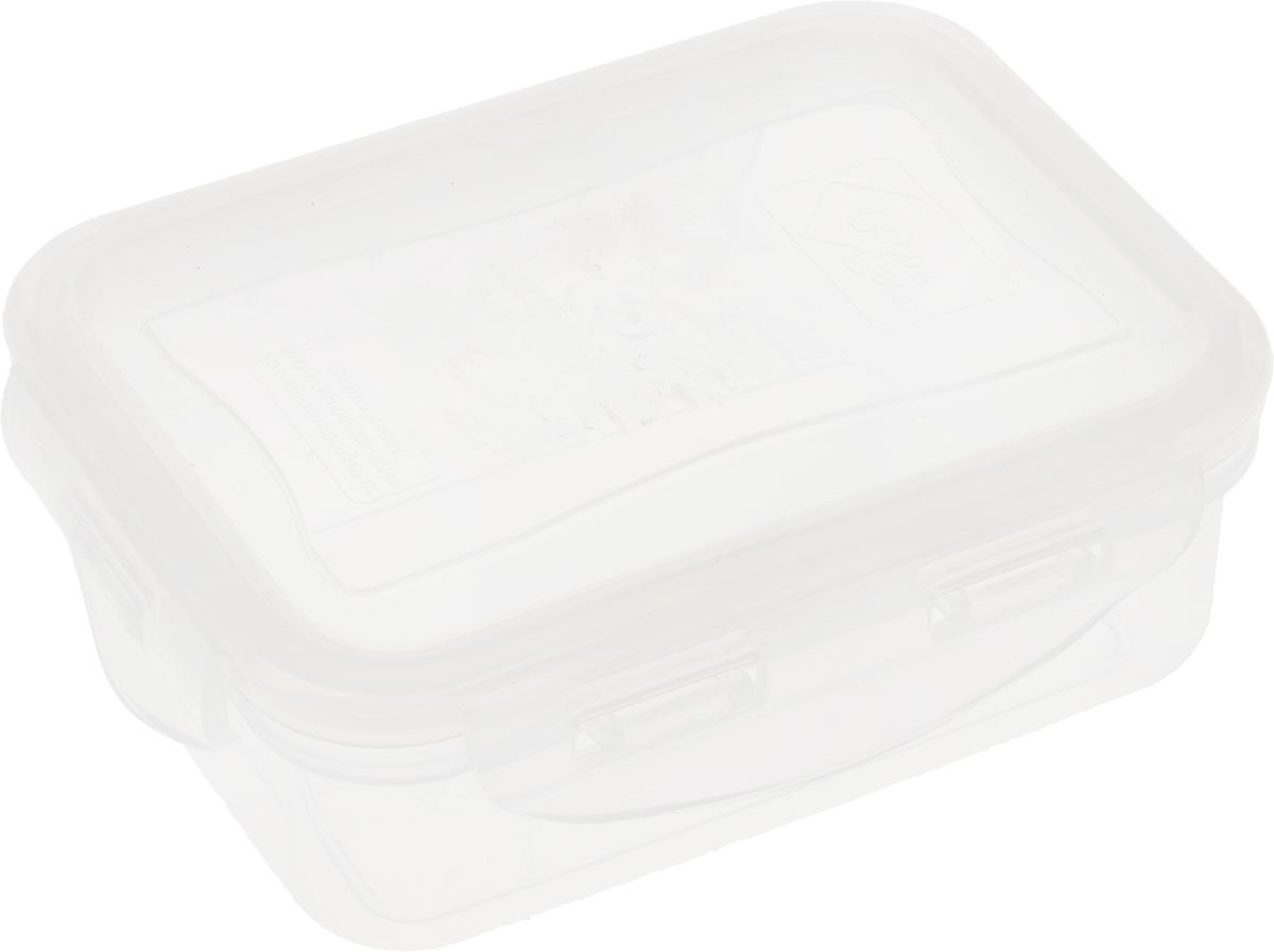 Контейнер пищевой Good&Good, цвет: прозрачный, 330 мл02-1_прозрачныйПрямоугольный контейнер Good&Good изготовлен из высококачественного полипропилена и предназначен для хранения любых пищевых продуктов. Благодаря особым технологиям изготовления, лоток в течение времени службы не меняет цвет и не пропитывается запахами. Крышка с силиконовой вставкой герметично защелкивается специальным механизмом. Контейнер Good&Good удобен для ежедневного использования в быту. Можно мыть в посудомоечной машине и использовать в микроволновой печи. Размер контейнера (с учетом крышки): 13 х 10 х 4,5 см.