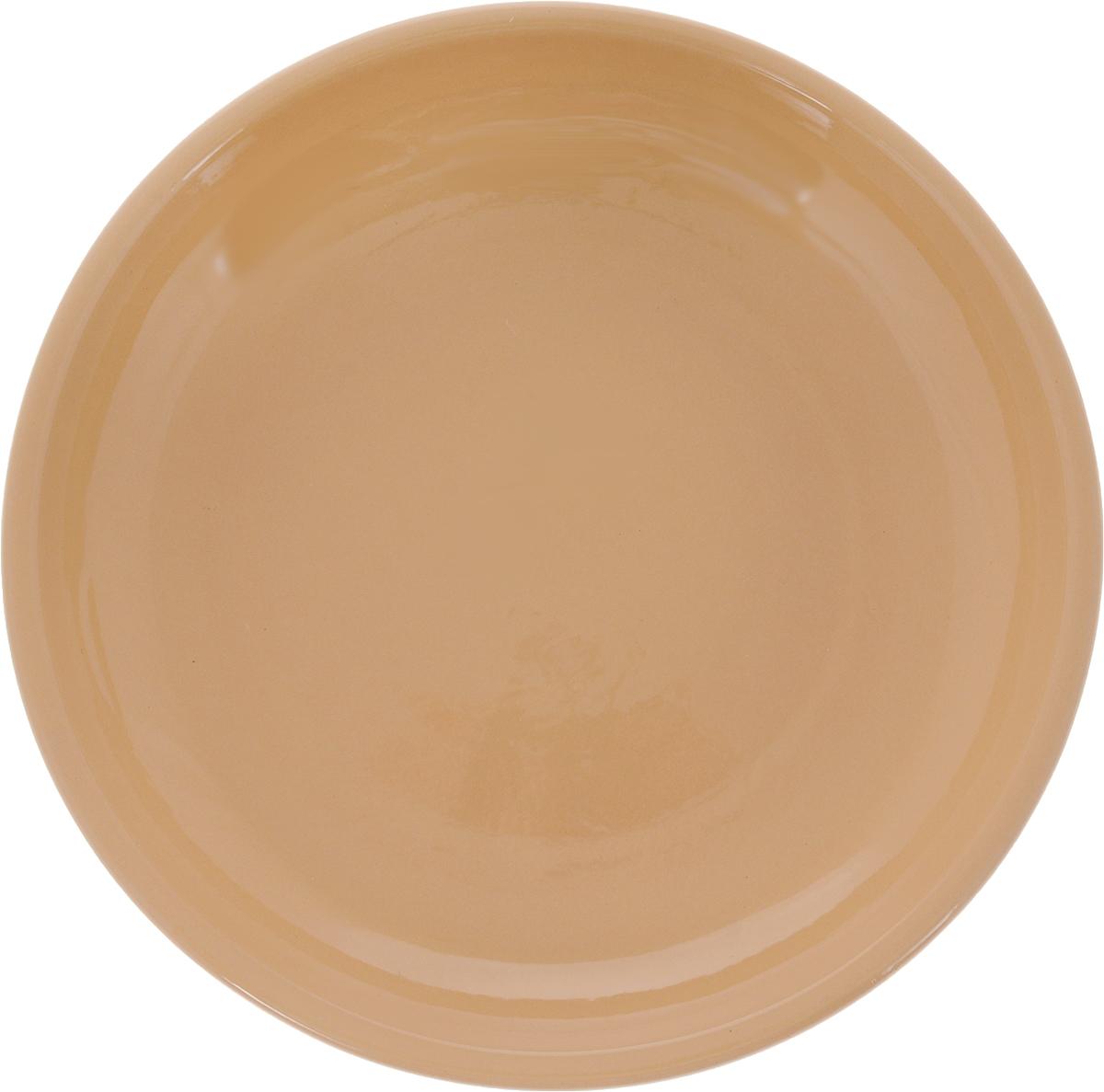 Тарелка Борисовская керамика Радуга, цвет: бежевый, диаметр 18 смРАД00000458_бежевыйТарелка плоская Радуга выполнена из высококачественной керамики. Внутренняя часть тарелки оформлена ярким рисунком с изображением цветка. Тарелка Борисовская керамика Радуга идеально подойдет для сервировки стола и станет отличным подарком к любому празднику. Изделие может использоваться как подставка под любую другую посуду. Можно использовать в духовке и микроволновой печи. Диаметр (по верхнему краю): 18 см.