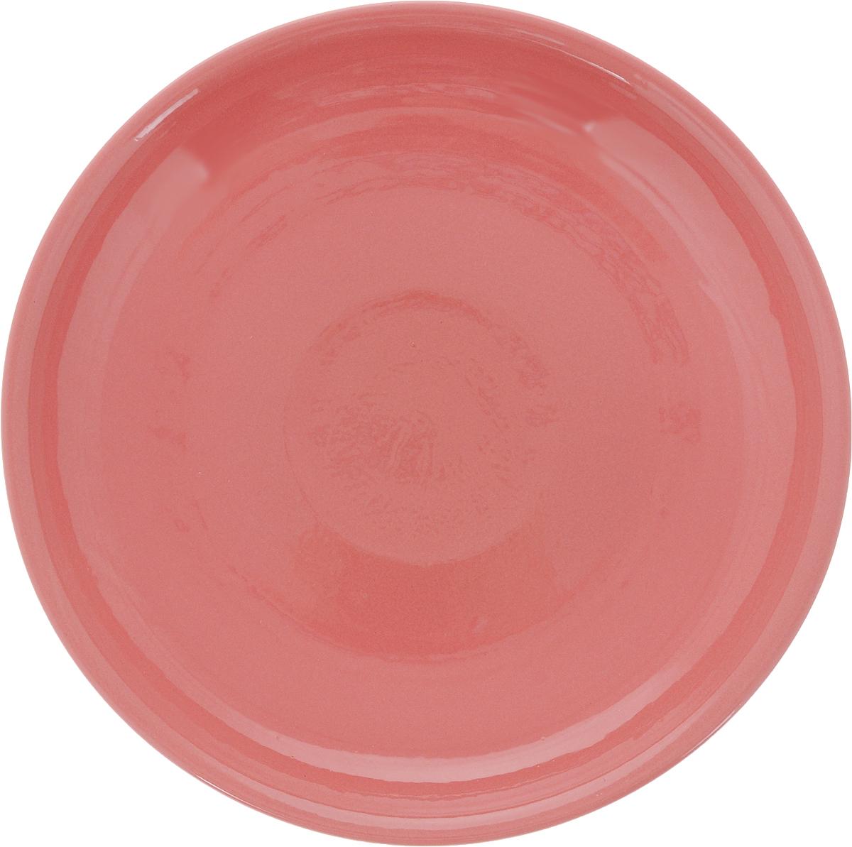 Тарелка Борисовская керамика Радуга, цвет: розовый, диаметр 18 смРАД00000458_розовыйТарелка Борисовская керамика Радуга выполнена из высококачественной керамики. Изделие идеально подойдет для сервировки стола и станет отличным подарком к любому празднику. Можно использовать в духовке и микроволновой печи.