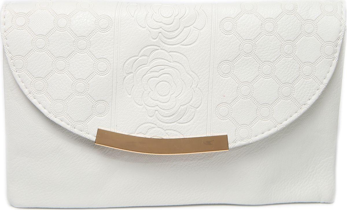 Клатч женский Mitya Veselkov, цвет: белый. LADYBAG-WHITE1LADYBAG-WHITE1Стильная женская сумка станет отличным дополнением Вашего образа. Три больших отделения внутри.