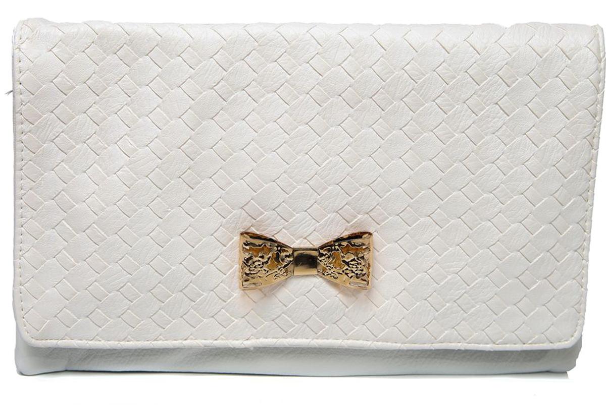 Клатч женский Mitya Veselkov, цвет: белый. LADYBAG-WHITE2LADYBAG-WHITE2Стильная женская сумка станет отличным дополнением Вашего образа. Три больших отделения внутри.