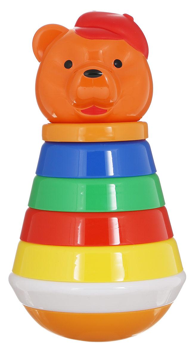 Stellar Пирамидка-неваляшка Медведь цвет оранжевый1581_ медведь оранжевыйПирамидка-неваляшка Stellar Медведь заинтересует вашего малыша. Яркая пирамидка состоит из основания со штырьком, на которое нанизываются разноцветные колечки. Вершиной пирамидки является голова медведя. Пирамидка имеет подставку с округлым дном, благодаря которому она может раскачиваться под мелодичный звон. Игрушка выполнена из безопасного полипропилена и специально изготовлена с закругленными краями, чтобы избежать травмирования ребенка. Игры с пирамидкой-неваляшкой развивают у малышей мелкую моторику рук, координацию движений, знакомят с понятиями формы, цвета и размера предмета.