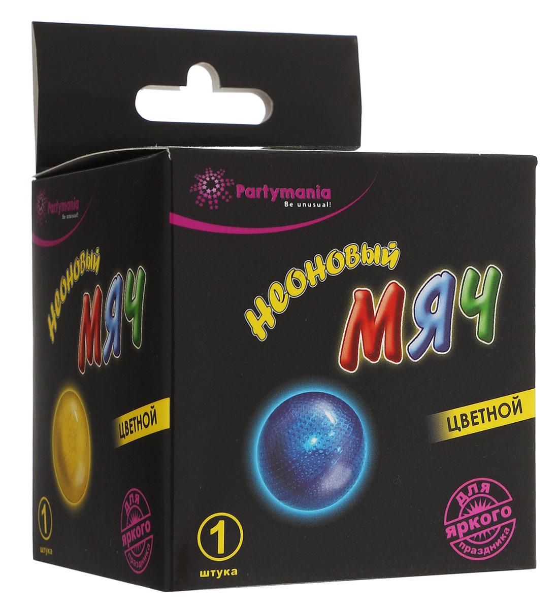 Partymania Неоновый мячT0119Неоновый мяч Partymania - изделие для праздников и активных игр. Внутри мяча находится капсула с неоновой жидкостью. При ударе мяча о землю капсула разрывается, жидкости смешиваются и светятся в течение 8 часов. Уважаемые клиенты! Обращаем ваше внимание на ассортимент в цвете товара. Поставка осуществляется в зависимости от наличия товара на складе. Мяч представлен в 4 расцветках (красный, голубой, желтый, зеленый). Состав: ацетилированный трибутилцитрат, бис (3, 5, 6- трихлоро- 2- карбопентиокси) оксалат, трет-бутиловый спирт, диметилфталат, перекись водорода, салицилат натрия, 9, 10-бис (фенилэтинил) антрацен, вода.