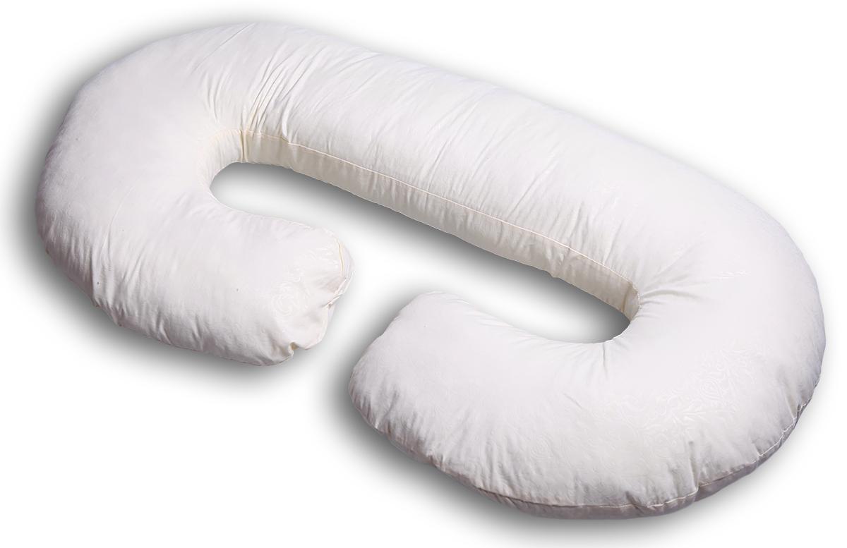 Body Pillow Подушка для беременных и кормящих С-образная цвет бежевый