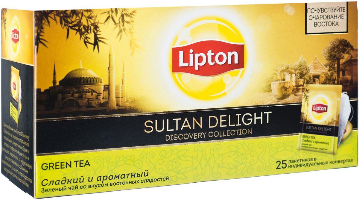 Lipton Зеленый чай Sultan Delight 25 шт21187768Lipton Sultan Delight - слегка терпкий зеленый чай с медовым послевкусием и легким ароматом зеленого яблока и инжира откроет вам утонченный и загадочный мир Востока.