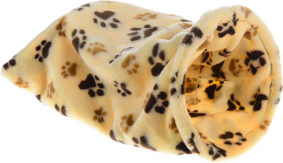 Лежак для животных Elite Valley Мешок, цвет: желтый, черный, коричневый, 30 х 30 х 60 смЛ-18/3_желтый, черный, коричневыйНеобычный лежак Elite Valley Мешок станет лучшим подарком для вашего любимца. Изделие выполнено из искусственного меха и оснащен внутри металлическим кольцом. Мягкий, теплый мешок надолго привлечет внимание животного, обеспечит интересным времяпровождением, а также даст возможность прятаться внутри от холода и посторонних взглядов.