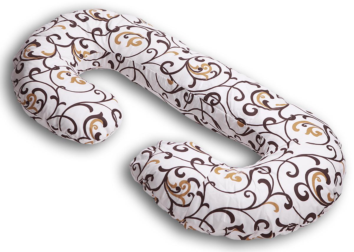 Body Pillow Подушка для беременных и кормящих С-образная цвет бежевый золотой