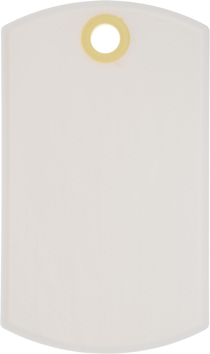 Доска разделочная Axentia, цвет: белый, желтый, 26 х 15 см