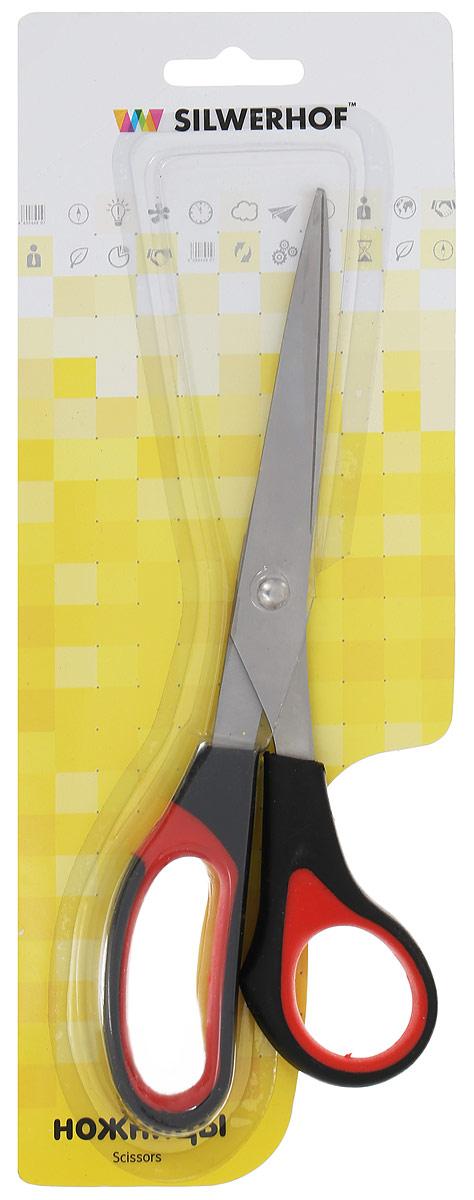 Silwerhof Ножницы офисные Softlinie цвет черный красный 21 см