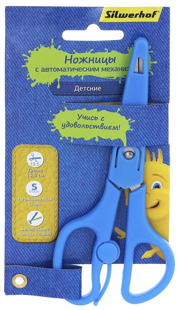 Silwerhof Ножницы детские Джинсовая коллекция цвет голубой 13,5 см453084Детские ножницы Silwerhof Джинсовая коллекция прекрасно подойдут для детского творчества. Лезвия выполнены из высокоуглеродистой легированной стали, что делает процесс работы с ними безопасным для ребенка. Эргономичная форма колец и автоматический механизм на ножницах поможет снять напряжение с кисти ребенка во время работы. Ножницы хорошо справляются с резкой бумаги, картона и станут незаменимым помощником в процессе создания аппликаций и других поделок.