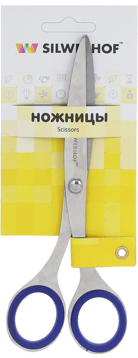 Silwerhof Ножницы офисные Prestigelinie 16,5 см450092Удобные и практичные офисные ножницы Silwerhof Prestigelinie могут использоваться как для домашних нужд, так и для работы в офисе. Предназначены для резки бумаги, картона, фотографий. Длинные и прямые стальные лезвия качественно заточены по всей длине и плотно прилегают друг к другу. Благодаря резиновым вставкам на кольцах ножницы не будут давить на пальцы и натирать.