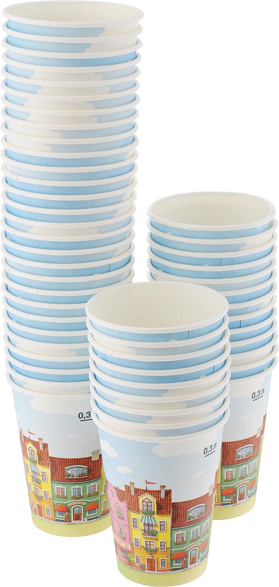 Набор одноразовых стаканов Huhtamaki Город, 300 мл, 50 штПОС27167Одноразовые стаканы Huhtamaki Город, изготовленные из плотной бумаги, предназначены для подачи горячих напитков. Вы можете взять их с собой на природу, в парк, на пикник и наслаждаться вкусными напитками. Несмотря на то, что стаканы бумажные, они очень прочные и не промокают. Диаметр (по верхнему краю): 8,5 см. Диаметр дна: 6 см. Высота: 11 см.