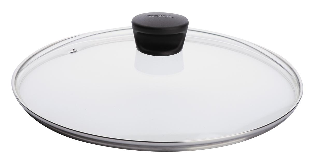 Крышка Tefal. Диаметр 18 см4090118Крышка Tefal изготовлена из термостойкого стекла. Обод, выполненный из высококачественной нержавеющей стали, защищает крышку от повреждений, а ручка, выполненная из термостойкого пластика, защищает ваши руки от высоких температур. Крышка удобна в использовании, позволяет контролировать процесс приготовления пищи. Имеется отверстие для выпуска пара.