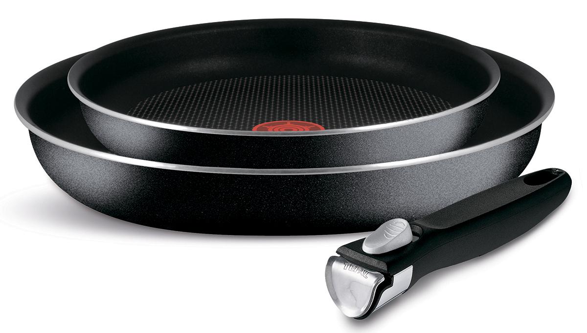 Набор сковород Tefal Ingenio, 3 предмета. 41318204131820Благодаря прочному дну Durabase посуда подходит для всех типов плит кроме индукции - идеальное и равномерное распределение тепла. Resist Plus — отличные антипригарные свойства и износостойкость даже при длительном использовании благодаря усовершенствованному верхнему слою. Уникальный индикатор температуры нагрева Thermo Spot вовремя подскажет, когда дно достигло оптимальной для приготовления температуры. Съёмная ручка Ingenio 3. Одно движение - И всё сложится! Габариты 24 и 28 см Серия Ingenio Антипригарное покрытие да Материал алюминий Материал дна многослойное дно Diffusal Материал ручки бакелит Внешнее покрытие антипригарное Внутреннее покрытие антипригарное Resistium Источник тепла любые плиты, кроме индукции Индикатор нагрева Thermo-Spot Можно мыть в посудомоечной машине да Комплектация сковорода 24 см сковорода 28 см съемная ручка Ingenio 3 Производство Россия Гарантия 1 год