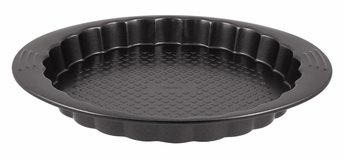 Форма для выпечки коржей Tefal Easy Grip, круглая, с антипригарным покрытием, диаметр 27 смJ0838374Форма для коржей Tefal Easy Grip выполнена из углеродистой стали с внутренним антипригарным покрытием с рифленой поверхностью. Углеродистая сталь - это прочный, легкий и долговечный материал, который прекрасно проводит тепло, помогая выпечке хорошо подходить и равномерно пропекаться, и гарантирует всегда великолепный результат. Слой антипригарного покрытия полностью устраняет пригорание коржа и его прилипание к стенкам и дну. Выпечка легко извлекается из формы. Экологически безопасное антипригарное покрытие не содержит PFOA, свинца и кадмия. Форма выдерживает температуру до 210°C. Изделие нельзя мыть в посудомоечной машине, нельзя использовать в микроволновой печи. Использовать только пластиковые аксессуары. Внутренний диаметр формы: 27 см. Размер формы с учетом ручек: 29,5 х 34 см. Высота стенки формы: 3 см.