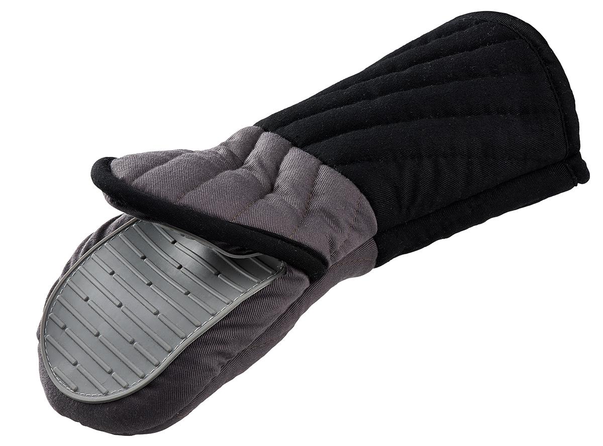 Прихватка Tefal Comfort Touch, с силиконовым покрытиемK0690514Рукавица-прихватка Tefal Comfort Touch поможет аккуратно достать горячее блюдо и не обжечь руки. Рукавица изготовлена из простроченного текстиля и оснащена силиконовым покрытием, которое выдерживает высокие температуры (до 230°C). Изделие оснащено петелькой, благодаря которой прихватку можно подвесить. Не подвергается воздействию огня. Такая прихватка - помощница любой хозяйке и незаменимый аксессуар на кухне!