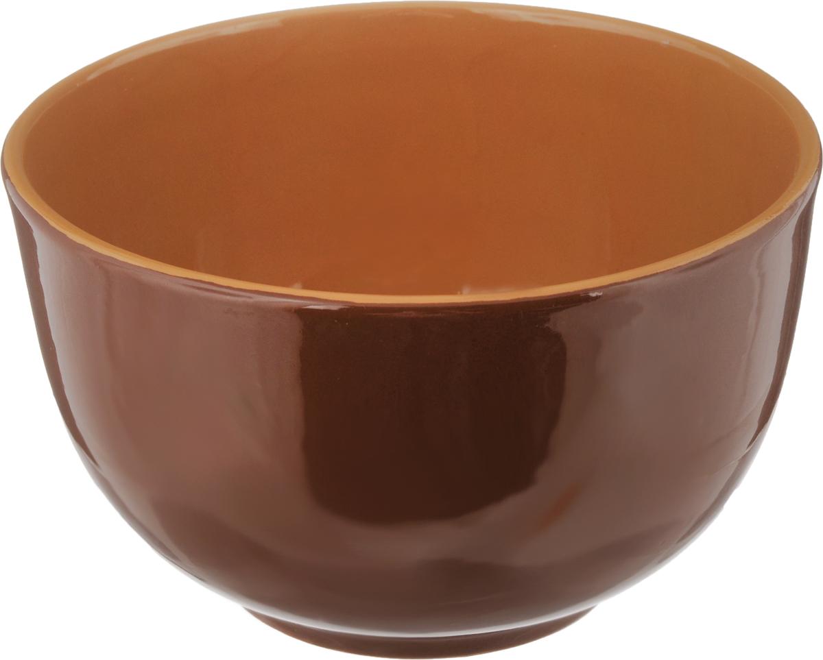 Салатник Борисовская керамика Радуга, цвет: коричневый, 2 лРАД00000524_ коричневыйСалатник Борисовская керамика Радуга выполнен из высококачественной глазурованной керамики. Этот большой и вместительный салатник необходим на любом застолье, он идеально подходит для сервировки салатов и закусок. Изделие термостойкое, поэтому его можно использовать для запекания в духовке и микроволновой печи, с последующим хранением в нем приготовленной пищи. Такой яркий салатник отлично дополнит сервировку стола и подчеркнет ваш изысканный вкус. Диаметр (по верхнему краю): 20 см. Высота стенки: 12 см.