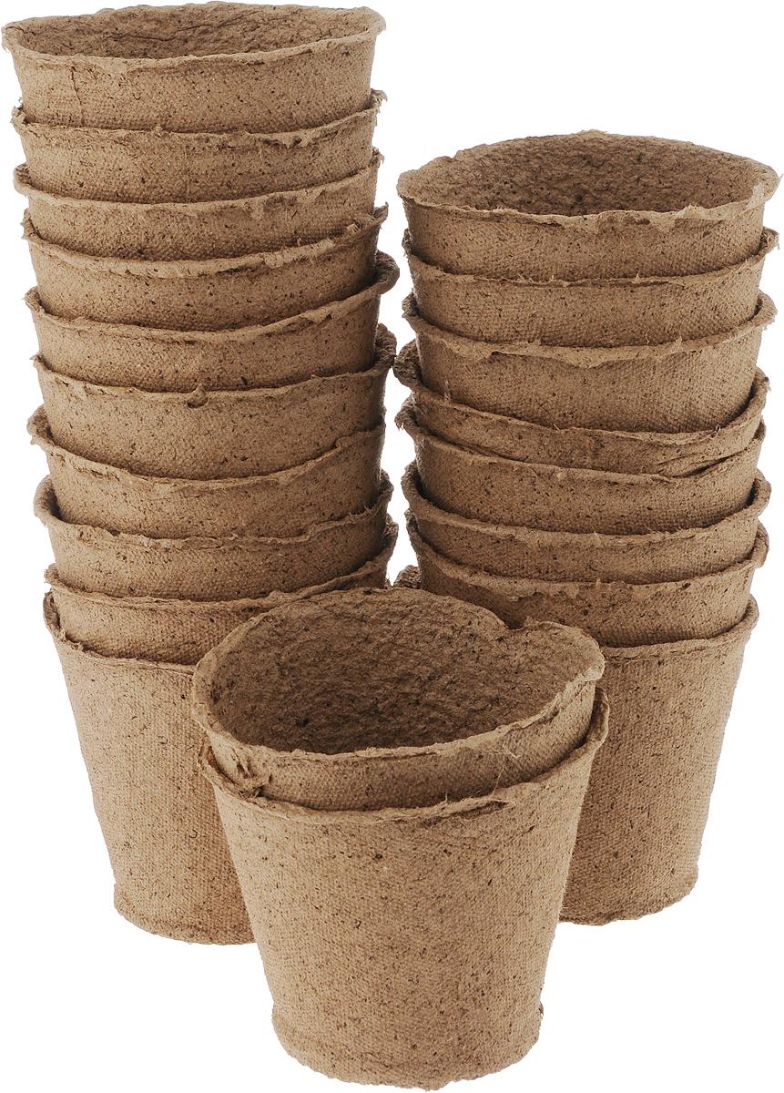 Торфяной горшочек Добрая сила, для выращивания рассады, 11 х 11 х 10 см, 20 штDS44140041Горшочек Добрая сила является органическим продуктом и представляет собой полую емкость, стенки которого выполнены из торфо-древесной массы с добавлением мела. Рекомендуется для лучшего прорастания накрыть горшочки стеклом или пленкой. Выращенную рассаду необходимо высаживать в грунт вместе с горшком. В комплекте 20 горшочков. Состав: торф верховой 70%, древесная масса 30%, мел, pH не менее 5,5. Размер горшка: 11 х 11 х 10 см.