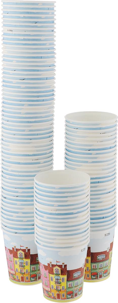 Набор одноразовых стаканов Huhtamaki Город, 180 мл, 100 штПОС30516Одноразовые стаканы Huhtamaki Город, изготовленные из плотной бумаги, предназначены для подачи горячих напитков. Вы можете взять их с собой на природу, в парк, на пикник и наслаждаться вкусными напитками. Несмотря на то, что стаканы бумажные, они очень прочные и не промокают. Диаметр (по верхнему краю): 7 см. Диаметр дна: 5 см. Высота: 7,5 см.