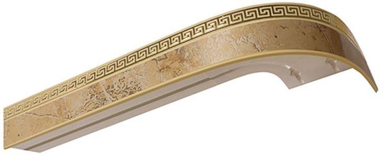 """Багет Эскар """"Мокко Греция"""", цвет: светлая подложка, золотистый, 5 см х 200 см"""