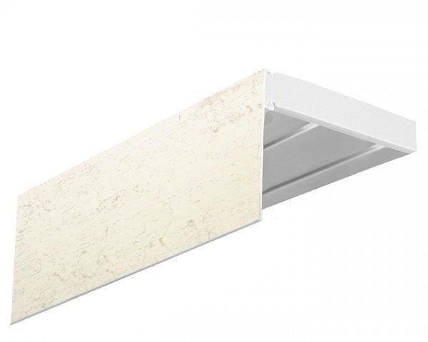 Багет Эскар Кракэ, 7 х 200 см292664200Багет Эскар представляет собой изготовленную из поливинилхлорида (ПВХ) полую пластину, применяющуюся как потолочный карниз. Багет для карниза крепится к карнизным шинам. Благодаря багетному карнизу, от взора скрывается верхняя часть штор (шторная лента, крючки), тем самым придавая окну и интерьеру в целом изысканный вид и шарм.