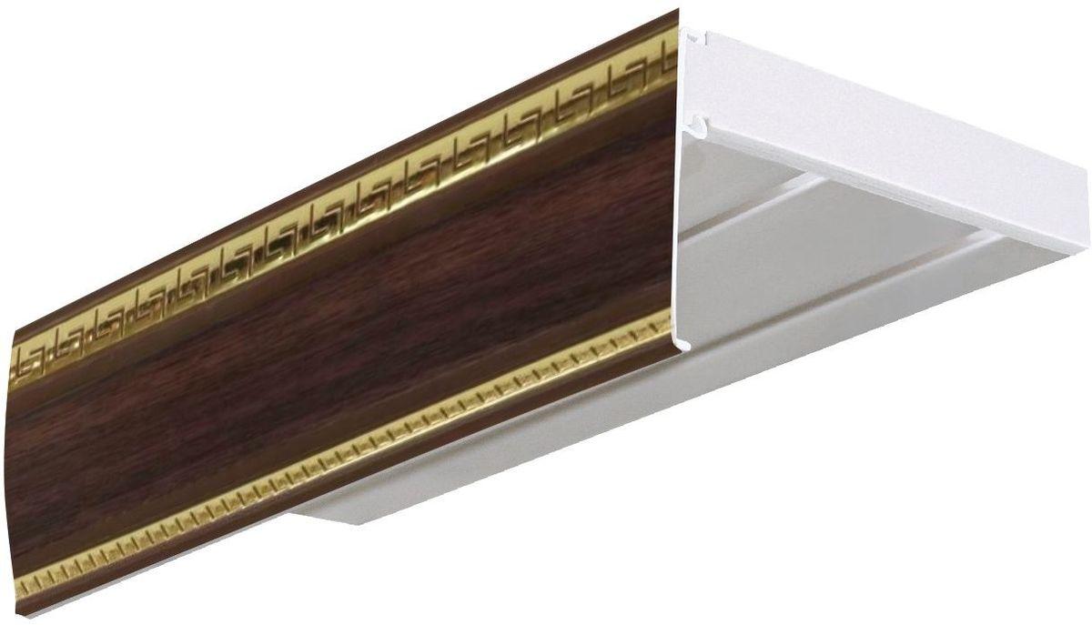 Багет Эскар Антик, цвет: темный ясень, 7 см х 290 см29600290Багет для карниза крепится к карнизным шинам. Благодаря багетному карнизу, от взора скрывается верхняя часть штор (шторная лента, крючки), тем самым придавая окну и интерьеру в целом изысканный вид и шарм. Вы можете выбрать багетные карнизы для штор среди широкого ассортимента багета Российского производства. У нас множество идей использования багета для Вашего интерьера, которые мы готовы воплотить! Грамотно подобранное оформление – ключ к превосходному результату!!!