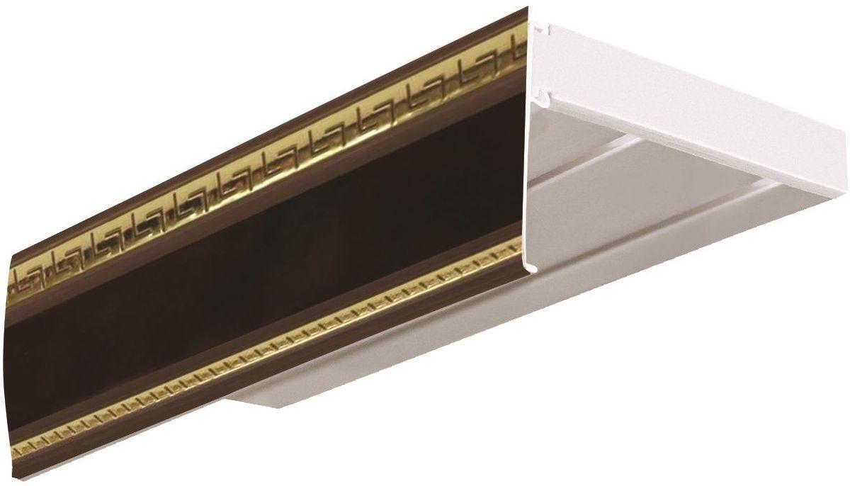 Багет Эскар Антик, цвет: махагон, 7 см х 290 см29601290Багет для карниза крепится к карнизным шинам. Благодаря багетному карнизу, от взора скрывается верхняя часть штор (шторная лента, крючки), тем самым придавая окну и интерьеру в целом изысканный вид и шарм. Вы можете выбрать багетные карнизы для штор среди широкого ассортимента багета Российского производства. У нас множество идей использования багета для Вашего интерьера, которые мы готовы воплотить! Грамотно подобранное оформление – ключ к превосходному результату!!!