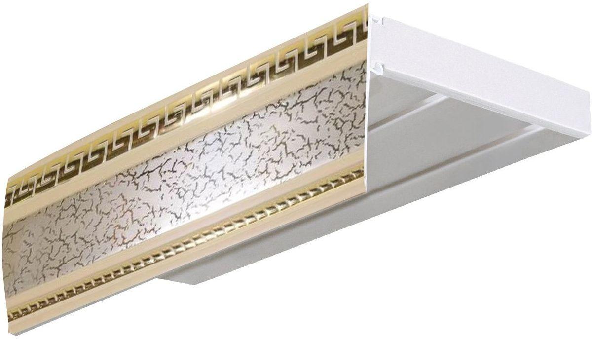 Багет Эскар Антик, цвет: престиж, 7 см х 300 см29607300Багет для карниза крепится к карнизным шинам. Благодаря багетному карнизу, от взора скрывается верхняя часть штор (шторная лента, крючки), тем самым придавая окну и интерьеру в целом изысканный вид и шарм. Вы можете выбрать багетные карнизы для штор среди широкого ассортимента багета Российского производства. У нас множество идей использования багета для Вашего интерьера, которые мы готовы воплотить! Грамотно подобранное оформление – ключ к превосходному результату!!!