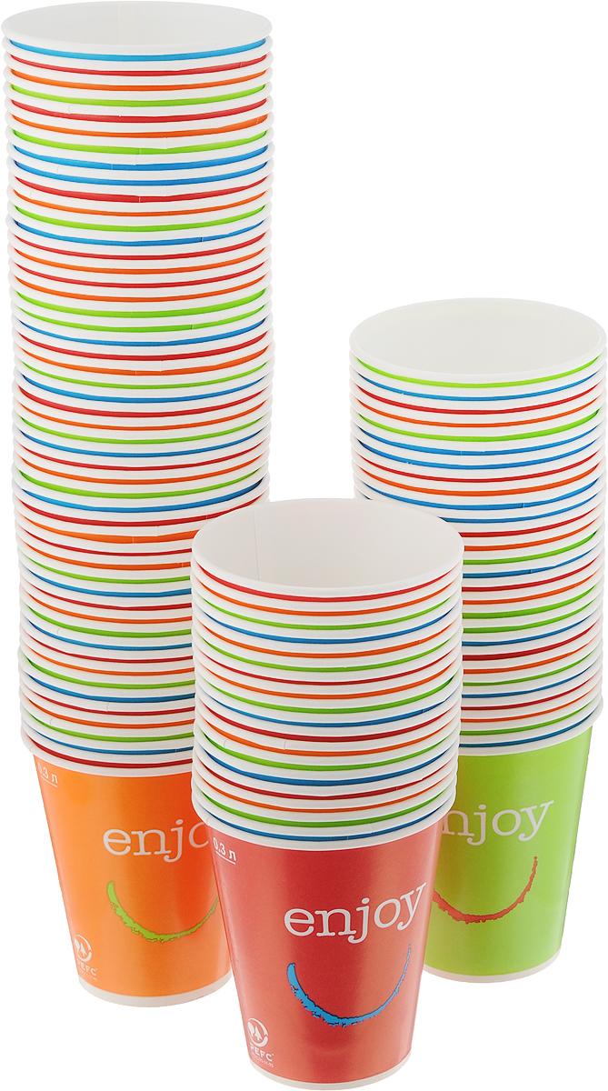 Набор одноразовых стаканов Huhtamaki Enjoy, 300 мл, 100 штПОС31508Одноразовые стаканы Huhtamaki Enjoy, изготовленные из плотной бумаги, предназначены для подачи горячих напитков. Вы можете взять их с собой на природу, в парк, на пикник и наслаждаться вкусными напитками. Несмотря на то, что стаканы бумажные, они очень прочные и не промокают. Диаметр (по верхнему краю): 8,5 см. Диаметр дна: 5,5 см. Высота: 10 см.