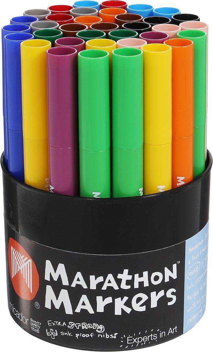 Micador Набор цветных маркеров 36 штMAW136Набор ярких цветных маркеров Micador прекрасно подойдет для создания красивых рисунков. Маркеры имеют утолщенный корпус, разработанный специально для маленьких ручек, чтобы малышам было удобно рисовать. Долговечные, не высыхают с открытым колпачком до 8 недель, при необходимости заправляются водой, а это значит, что вам не придется покупать новые маркеры. Рисование такими маркерами от Micador - самое лучшее занятие для развития творческих и умственных способностей вашего ребенка.