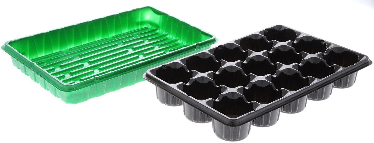 Набор для выращивания рассады Добрая сила, с торфяными таблетками, 15 таблетокDS44140011Набор для выращивания рассады Добрая сила представляет собой пластиковый поддон, куда вкладывается рассадная кассета с торфяными таблетками. Идеально подходит для проращивания семян и укоренения черенков в домашних условиях. В комплекте 15 торфяных таблеток. Размер поддона: 36 х 23 х 4,5 см. Размер кассеты: 36 х 23 х 5,5 см. Размер одной ячейки: 6,5 х 6,5 х 5,5 см.