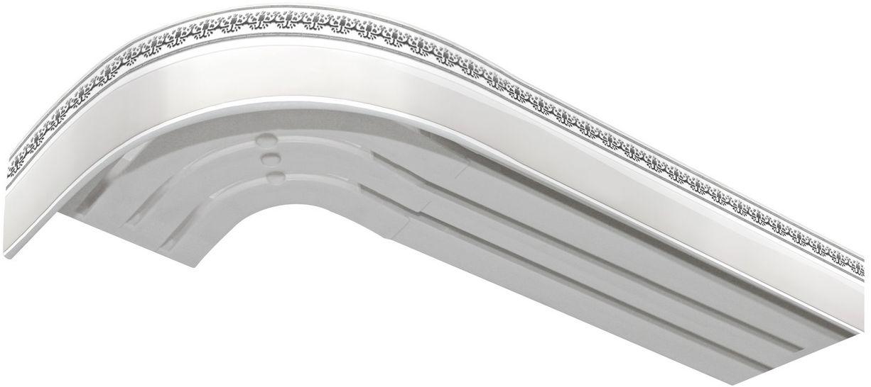Багет Эскар Серебро Дамаск, цвет: белая подложка, серебристый, 5 см х 200 см2901121200Багет для карниза крепится к карнизным шинам. Благодаря багетному карнизу, от взора скрывается верхняя часть штор (шторная лента, крючки), тем самым придавая окну и интерьеру в целом изысканный вид и шарм. Вы можете выбрать багетные карнизы для штор среди широкого ассортимента багета Российского производства. У нас множество идей использования багета для Вашего интерьера, которые мы готовы воплотить! Грамотно подобранное оформление – ключ к превосходному результату!!!