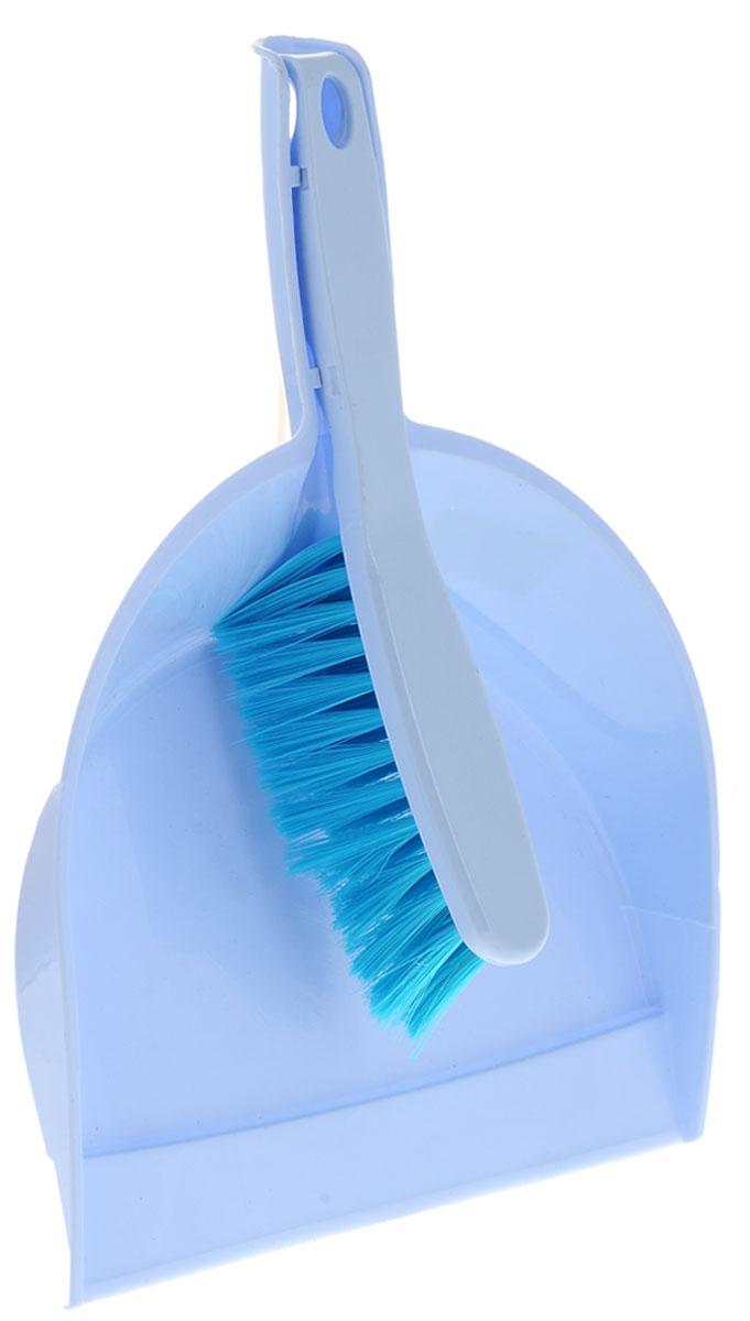 Набор для уборки Альтернатива, цвет: голубой, 2 предметаM893_ голубойНабор для уборки Альтернатива состоит из щетки-сметки и совка. Он станет незаменимым помощником при удалении пыли и мусора с различных поверхностей. Эластичный ворс на щетке, изготовленный из полимера, не оставит от грязи и следа. В комплекте - вместительный совок углубленной формы, выполненный из прочного пластика. Удобная форма совка с бордюром, который удерживает собранный мусор, позволит эффективно и быстро совершить уборку в любом помещении. Ручка совка позволяет прикреплять его к рукоятке щетки. На рукоятках изделий имеются специальные отверстия для подвешивания. Длина щетки: 27 см. Длина ворса щетки: 5 см. Размер рабочей поверхности щетки: 14 х 3,5 см. Размер рабочей поверхности совка: 23,5 х 22,5 см. Размер совка (с учетом ручки): 33,5 х 23,5 х 6 см.