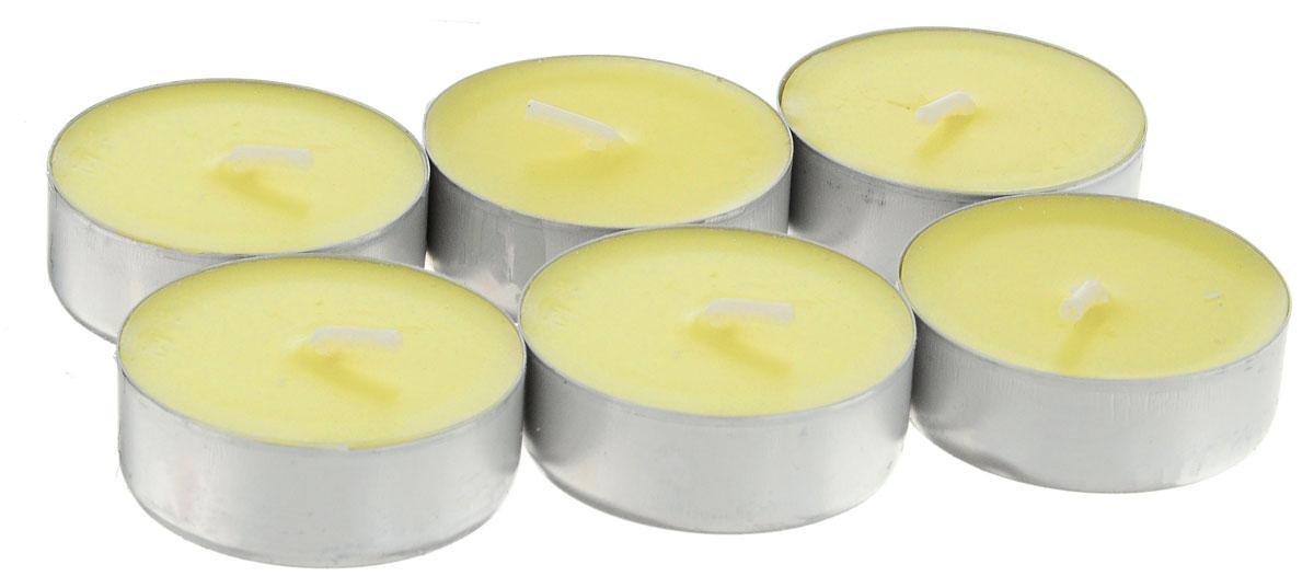 Набор свечей Paterra Ваниль, ароматизированные, диаметр 3,9 см, 6 шт401-455_ванильНабор Paterra Ваниль состоит из 6 круглых свечей с ароматом ванили, изготовленных из парафина. Ваниль - сладкий и согревающий аромат. Помогает снять напряжение, стимулирует деятельность, восстанавливает аппетит, придает жизненную энергию. Первичный парафин в составе свечей обеспечивает качество горения (выгорает полностью). При горении не трещат, не появляются искры. Время горения 4 часа. Такой набор украсит интерьер вашего дома или офиса и наполнит его атмосферу теплом и уютом.