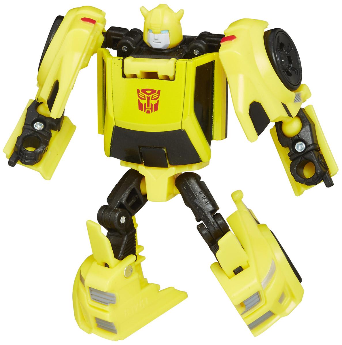 Transformers Трансформер Bumblebee цвет желтыйB0284_C7771Трансформер Transformers Bumblebee обязательно понравится всем маленьким поклонникам знаменитых Трансформеров! Фигурка выполнена из прочного пластика. В несколько простых шагов малыш сможет трансформировать фигурку робота в быструю машинку и обратно. Фигурка отличается высокой степенью детализации. Ребенок с удовольствием будет играть с трансформером, придумывая различные истории. Порадуйте его таким замечательным подарком! В комплекте карта персонажа с техническими характеристиками.