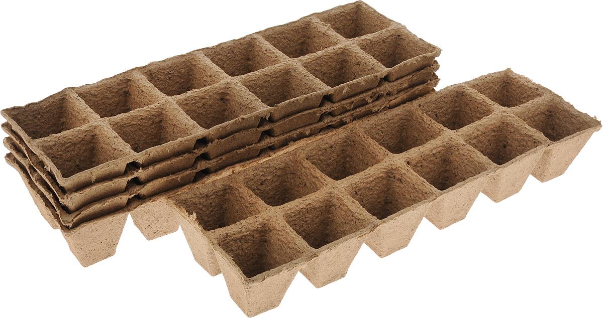 Торфяной горшочек Добрая сила, для выращивания рассады, 5 х 5 х 5,5 см, 60 штDS44140101Горшочек Добрая сила является органическим продуктом и представляет собой полую емкость, стенки которого выполнены из торфо-древесной массы с добавлением мела. Рекомендуется для лучшего прорастания накрыть горшочки стеклом или пленкой. Выращенную рассаду необходимо высаживать в грунт вместе с горшком. В комплекте 5 блоков по 12 горшочков. Состав: торф верховой 70%, древесная масса 30%, мел, pH не менее 5,5. Размер горшка: 5 х 5 х 5,5 см. Размер одного блока: 31,5 х 10,5 х 5,5 см.