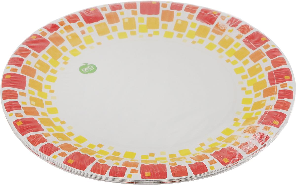 Набор тарелок Paterra Нарядные, цвет: красный, коричневый, желтый, диаметр 23 см, 6 шт401-471_красный, коричневый, желтыйТарелки Paterra Нарядные предназначены для украшения и сервировки стола во время мероприятий дома, в офисе, на даче, на пикнике. Пригодны для горячих блюд. Тарелки прочные, благодаря качеству и высокой плотности используемой при их изготовлении бумаги. Диаметр тарелки: 23 см. Количество в упаковке: 6 шт.