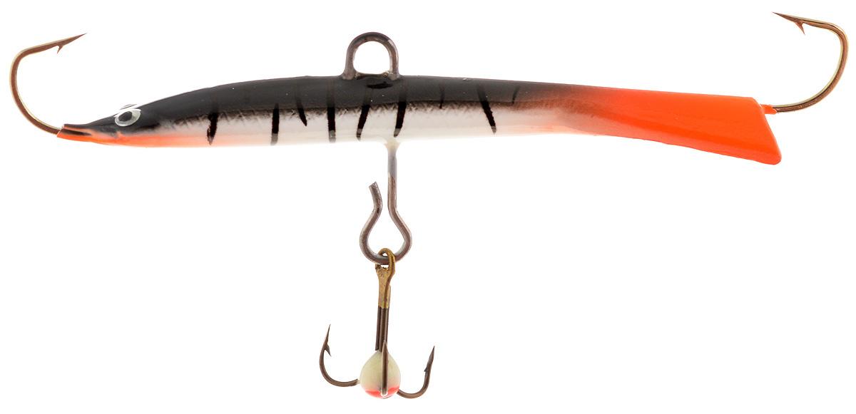Балансир Dixxon Черная Смерть, цвет: оранжевый, черный, серый, 15 г (65 мм). 5886458864Балансир с длинным, прогонистым телом для ловли со льда. Оснащен высококачественными впаянными крючками пр-во Корея. Подвесной тройник MUSTAD с каплей. Застежка - MARUTO (Япония)