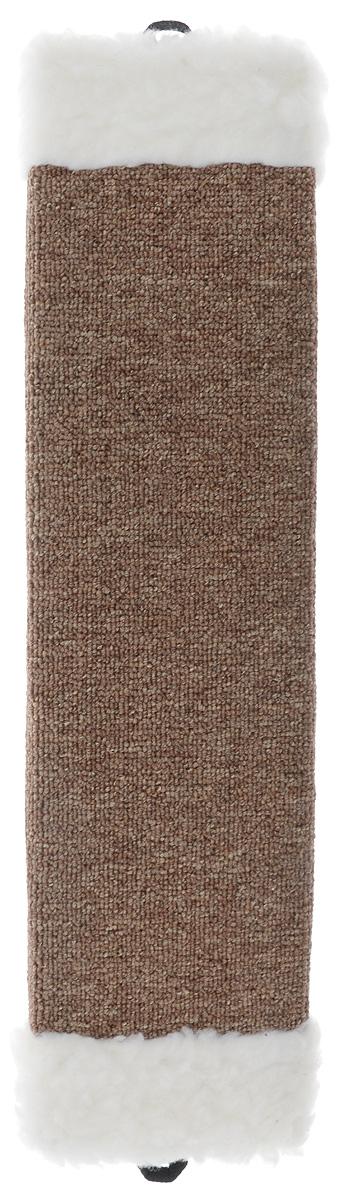 Когтеточка Elite Valley, с пропиткой, цвет: коричневый, белый, длина 51 смКТ-2_коричневый, белыйКогтеточка с пропиткой Elite Valley поможет сохранить мебель и ковры в доме от когтей вашего любимца, стремящегося удовлетворить свою естественную потребность точить когти. Когтеточка изготовлена из ДСП и обтянута ковролином. Изделие продумано в мельчайших деталях и, несомненно, понравится вашей кошке. Такая когтеточка может крепиться на смежных поверхностях стен и пола. Всем кошкам необходимо стачивать когти. Когтеточка - один из самых необходимых аксессуаров для кошки.