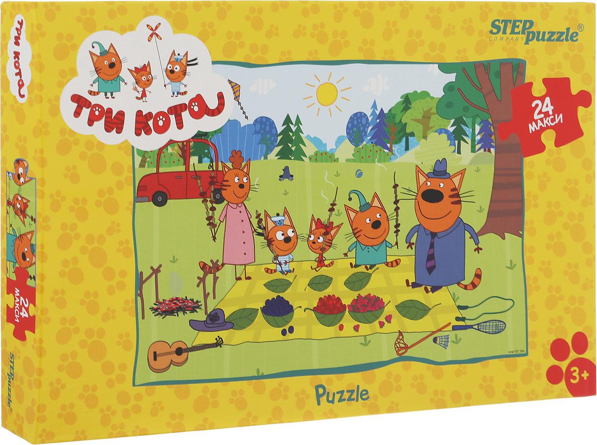 Step Puzzle Пазл для малышей Три кота90033Пазл Step Puzzle Три кота придется по душе вам и вашему ребенку. История рассказывает о семье котят и их родителей. Пазл включает в себя 24 крупных элемента, собрав которые, вы получите картинку с изображением сюжета из мультфильма. Сегодня собирание пазлов стало особенно популярным, главным образом, благодаря своей многообразной тематике, способной удовлетворить самый взыскательный вкус. Для детей это не только интересно, но и полезно. Собирание пазла развивает мелкую моторику ребенка, тренирует наблюдательность, логическое мышление, знакомит с окружающим миром, цветами и формами. Компания Step Puzzle гарантирует высокое качество пазла и точность подгонки.