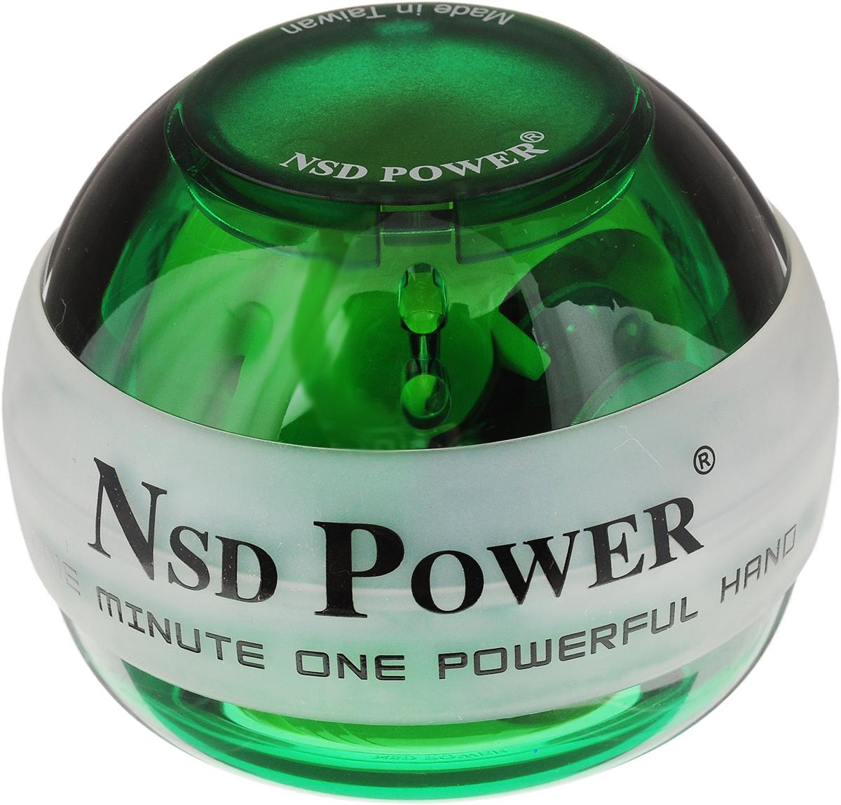 Тренажер кистевой NSD Power Powerball Neon. PB - 188LPB-188L GreenКистевой тренажер NSD Power Powerball Neon - новая модель c подсветкой, изготовленная из более прочного материала с системой защиты ротора. Защита предотвращает повреждение при падении шара на твердую поверхность, благодаря чему тренажер будет служить вам очень долгое время. Прекрасно отрегулированный ротор тренажера с отличным балансом может достигать скорости вращения до 15000 оборотов в минуту. Стильный тренажер для кисти рук, который можно использовать в любую свободную минуту. В комплект входят инструкция и два шнурка для раскрутки. Тренажер подходит как для развлечения, так и для постоянных тренировок или в виде разминки для полноценной спортивной тренировки. Размер тренажера: 7 х 5,5 см.