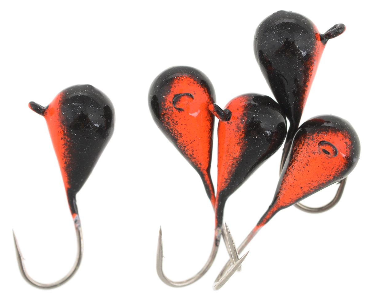Мормышка вольфрамовая Asseri Капля, с ушком, цвет: черный, оранжевый, диаметр 5 мм, 1,54 г, 5 шт. CK5-RBCK5-RBМормышка Asseri Капля изготовлена из вольфрамового сплава и оснащена крючком. Она небольшого размера и окрашена так, чтобы издалека привлечь рыбу. Главное достоинство такой мормышки - большой вес при малом объеме. Эта особенность дает большие преимущества при ловле, так как позволяет быстро погрузить приманку на требуемую глубину и лучше чувствовать игру мормышки.